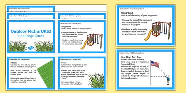 UKS2 Outdoor Challenge Cards