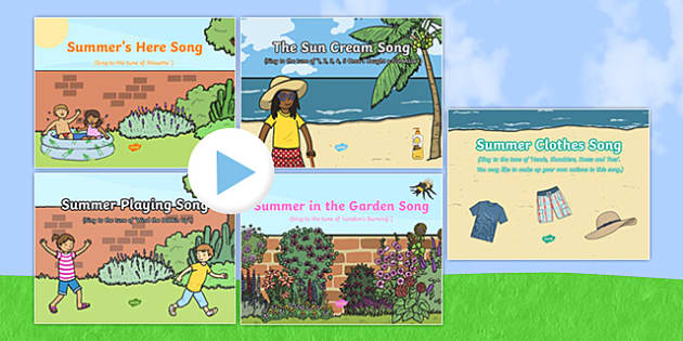 Summer-Themed Songs and Rhymes PowerPoints Pack