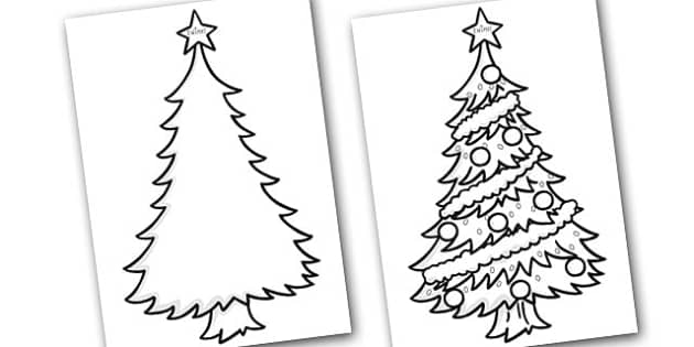 Colour In Christmas Trees - colouring, christmas, christmas trees