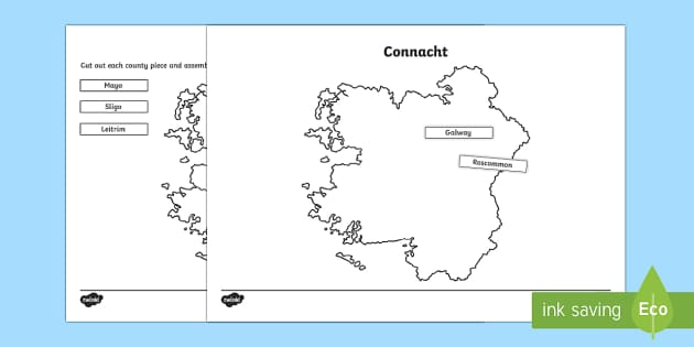 Build Ireland: Connacht Jigsaw Puzzle Activity Sheets