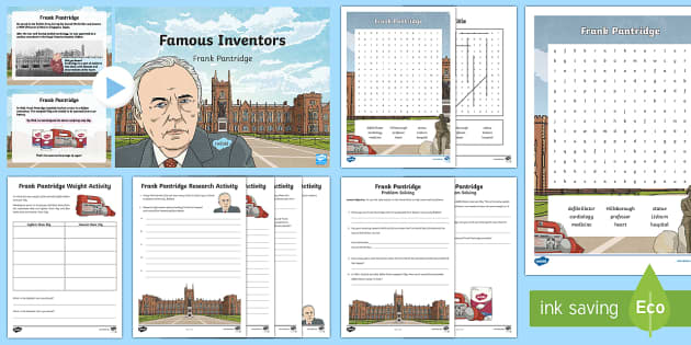 Famous Inventors: Frank Pantridge Activity Pack - Inventors, inventions, medicine, defibrillator, heart, cardiology, inventions Northern Ireland, Roya