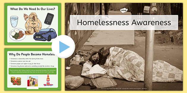 Homelessness Awareness Assembly Presentation - homelessness, awareness, assembly, presentation