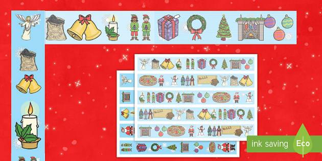 Christmas Borders Pack - mural, decoración de la clase, decorar la clase, exposición, exponer, navidad, navideño - mural, decoración de la clase, decorar la clase, exposición, exponer, navidad, navideño