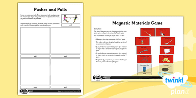 PlanIt - Science Year 3 - Forces and Magnets Unit Home Learning Tasks