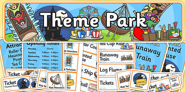 Theme Park Role Play Pack-theme park, role play, role play pack, theme park pack, pack, theme park role play, park, rides, games, activities