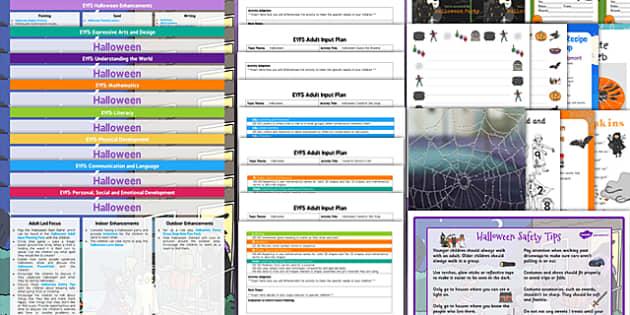 EYFS Halloween Lesson Plan Enhancement Ideas and Resource Pack - eyfs, halloween, lesson plan