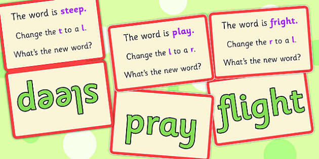 Initial Phoneme Manipulation Script Cards (blends) Set 3 - cards