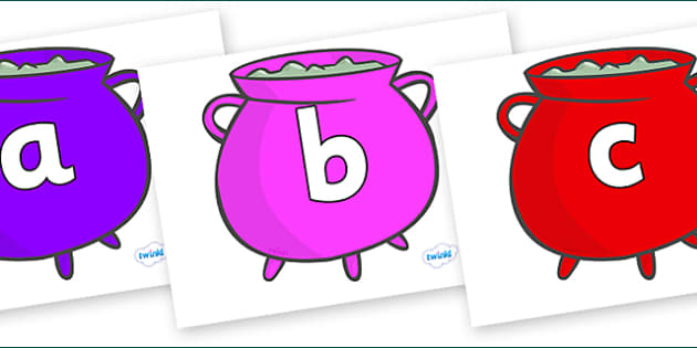 Phoneme Set on Cauldrons (Multicolour) - Phoneme set, phonemes, phoneme, Letters and Sounds, DfES, display, Phase 1, Phase 2, Phase 3, Phase 5, Foundation, Literacy