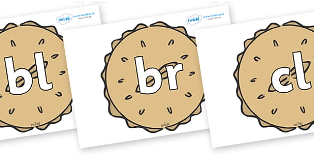 Initial Letter Blends on Pies - Initial Letters, initial letter, letter blend, letter blends, consonant, consonants, digraph, trigraph, literacy, alphabet, letters, foundation stage literacy