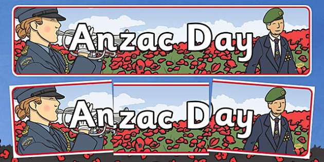 New Zealand Anzac Day Display Banner