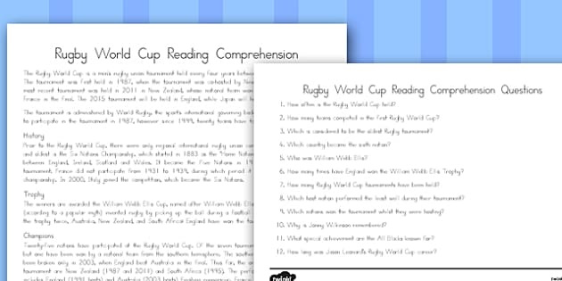 Australia Rugby World Cup Reading Comprehension - australia