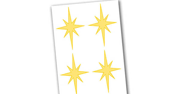 Display Stars (Christmas) Editable  - christmas, display, stars