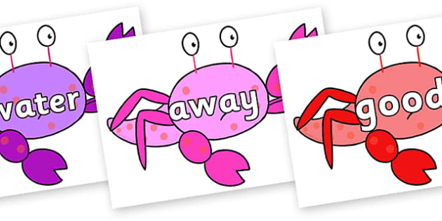 Next 200 Common Words on Crab to Support Teaching on Sharing a Shell - Next 200 Common Words on  - DfES Letters and Sounds, Letters and Sounds, Letters and sounds words, Common words, 200 common words