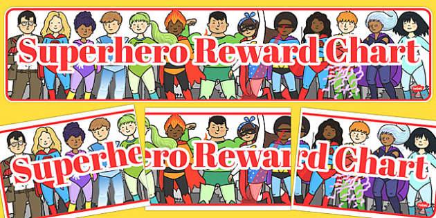 Superhero Reward Display Banner - superhero, reward, display banner