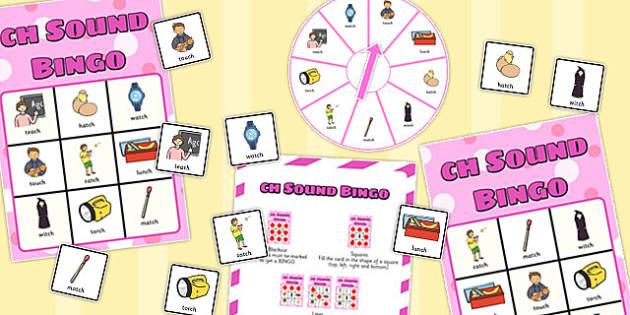 Final 'Ch' Sound Spinner Bingo - final ch, sound, spinner, bingo