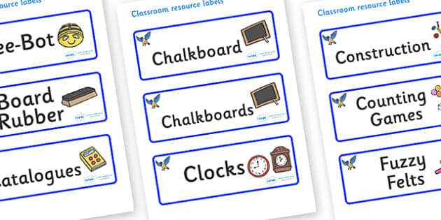 Starling Themed Editable Additional Classroom Resource Labels - Themed Label template, Resource Label, Name Labels, Editable Labels, Drawer Labels, KS1 Labels, Foundation Labels, Foundation Stage Labels, Teaching Labels, Resource Labels, Tray Labels,
