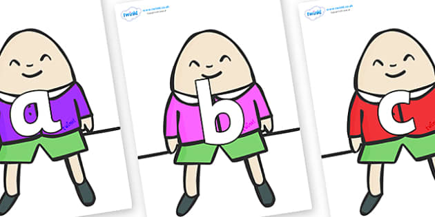 Phoneme Set on Humpty Dumpty - Phoneme set, phonemes, phoneme, Letters and Sounds, DfES, display, Phase 1, Phase 2, Phase 3, Phase 5, Foundation, Literacy
