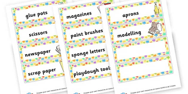 Art area labels - Creative Area Primary Resources, sign, area, zones, banner, poster