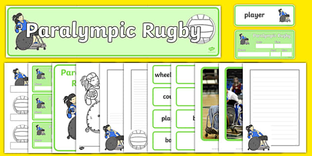 The Paralympics Rugby Resource - Rugby, Paralympics, sports, wheelchair, visually impaired, pack, resource, resources, 2012, London, Olympics, events, medal, compete, Olympic Games