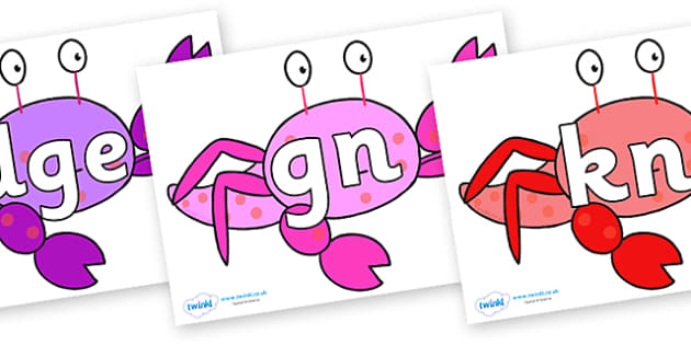 Silent Letters on Crab to Support Teaching on Sharing a Shell - Silent Letters, silent letter, letter blend, consonant, consonants, digraph, trigraph, A-Z letters, literacy, alphabet, letters, alternative sounds
