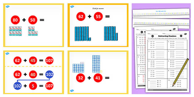 Y2 Adding 2 Digit Number Cross 100 Not Cross 10 Lesson Teach Pack