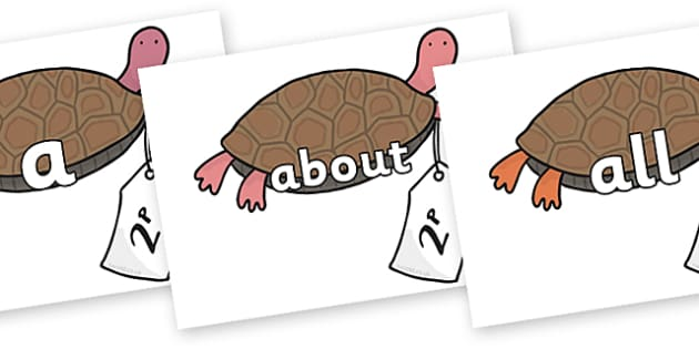 100 High Frequency Words on Terrapin to Support Teaching on The Great Pet Sale - High frequency words, hfw, DfES Letters and Sounds, Letters and Sounds, display words