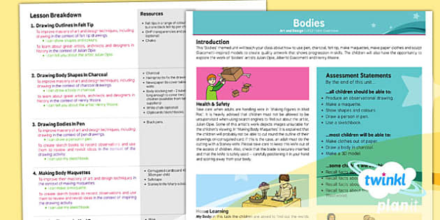 PlanIt - Art LKS2 - Bodies Planning Overview - planit, art, bodies
