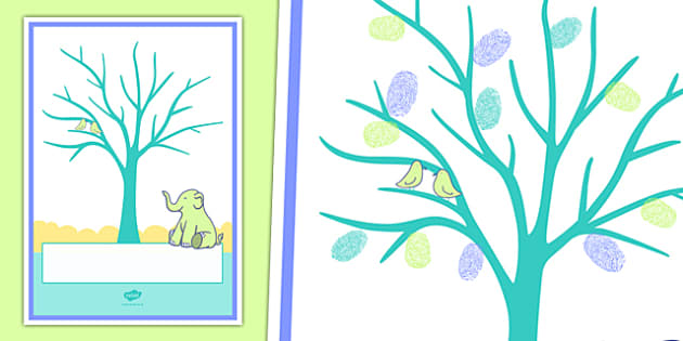 Baby Fingerprint Tree A4 Display Poster