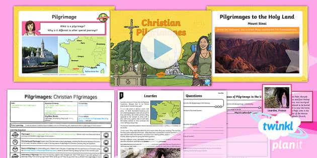 PlanIt - Year 4 - RE Pilgrimages Lesson 2:  Christian Pilgrimages Lesson Pack - Pilgrimage, Christianity, Holy Land, Saints, Miracles, christians, religion, religious, education, R