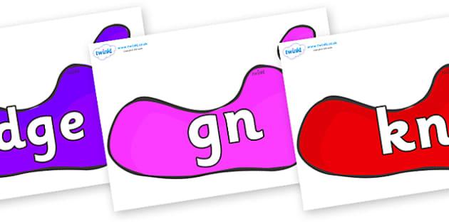 Silent Letters on Footprints - Silent Letters, silent letter, letter blend, consonant, consonants, digraph, trigraph, A-Z letters, literacy, alphabet, letters, alternative sounds