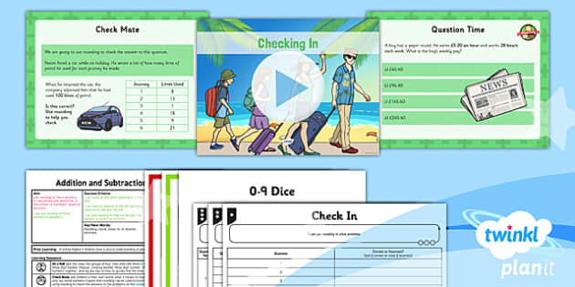PlanIt Y5 Addition and Subtraction Lesson Pack Rounding (3) - rounding, rounding, nearest to, closest to, differentiated