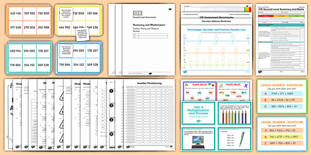 Second Level Number and Number Processes Resource Pack