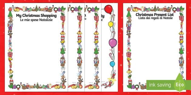 Christmas Role Play Writing Templates English/Italian - Christmas Role Play Writing Templates - Christmas, xmas, Happy Christmas, writing template, writing