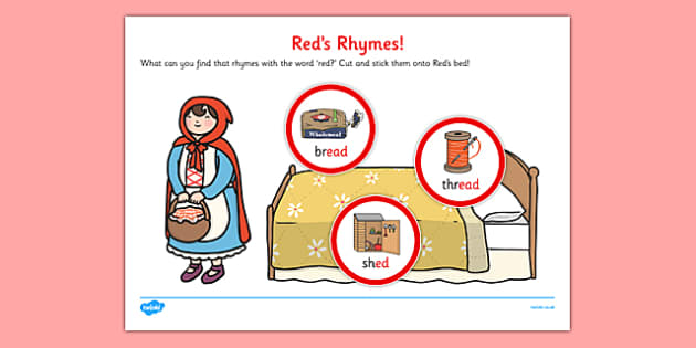Red's Rhymes Activity Sheet Pack - reds, rhymes, activity, sheet, red, reds rhymes, worksheet