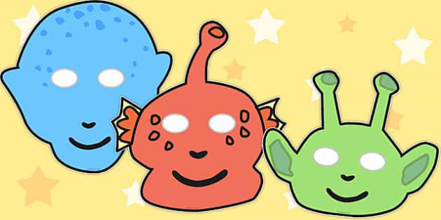 Alien Role Play Masks - australia, font, alien, role play, masks