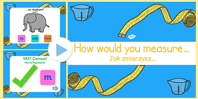 Measure Objects PowerPoint Game Polish Translation - polish, measurement, powerpoint, games