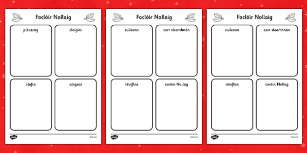 Christmas Read and Draw Activity Sheets Gaeilge - gaeilge, christmas, read, draw, activity, sheets, worksheet