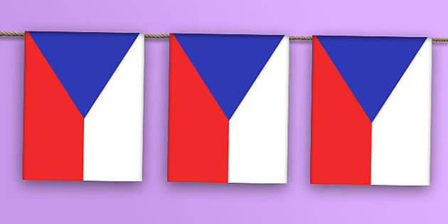 Czech Republic Flag Bunting - world, display, country, countries, flags, map