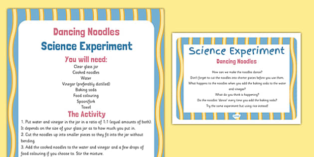 Dancing Noodles Science Experiment - EYFS, Chinese New Year, Science Experiment