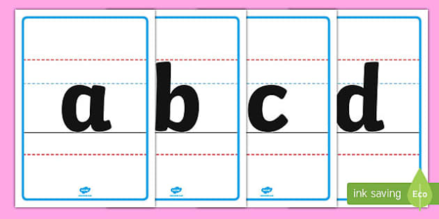 Lower-Case Alphabet Posters - alphabet posters, alphabet, posters, display posters, display, poster