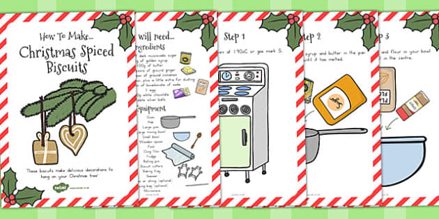 Christmas Spiced Biscuits Recipe Cards - australia, christmas