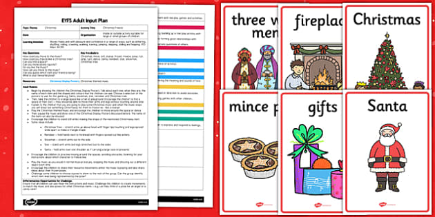 Christmas Freeze EYFS Adult Input Plan and Resource Pack