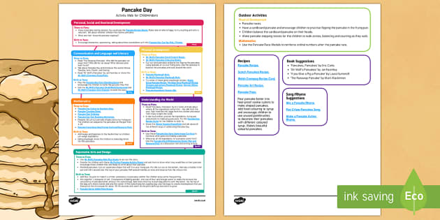 Childminder Pancake Day Activity Web - Shrove Tuesday, pancake day, childminder