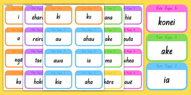 Te Reo Māori Spelling Flashcards - Te Reo Māori resources, spelling
