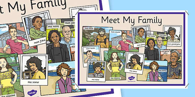French Meet My Family Display Poster - french, meet my family, meet, family, display poster