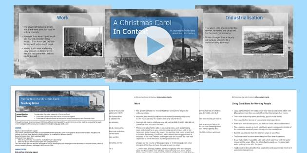 A Christmas Carol Lesson Pack 1: Context (pre-reading) - christmas carol, context, lesson pack, lesson, pack, ks3, ks4