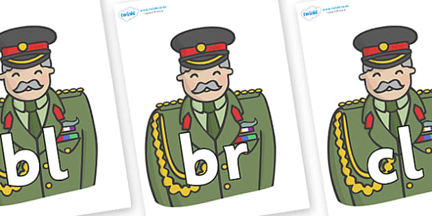 Initial Letter Blends on Sargeants - Initial Letters, initial letter, letter blend, letter blends, consonant, consonants, digraph, trigraph, literacy, alphabet, letters, foundation stage literacy