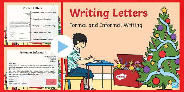 Formal and Informal Christmas Letters PowerPoint - Christmas, Nativity, Jesus, xmas, Xmas, Father Christmas, Santa, St Nic, Saint Nicholas, traditions,