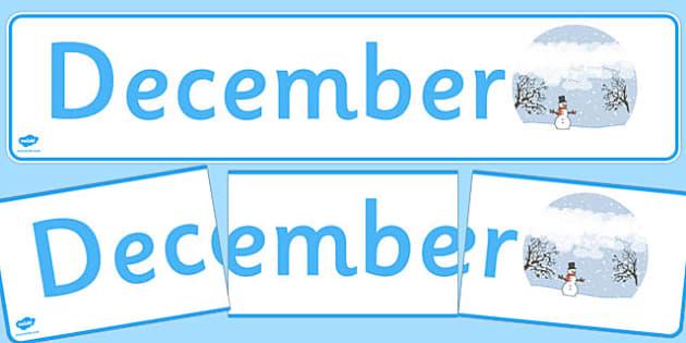December Display Banner - december, display banner, display, banner, months, year