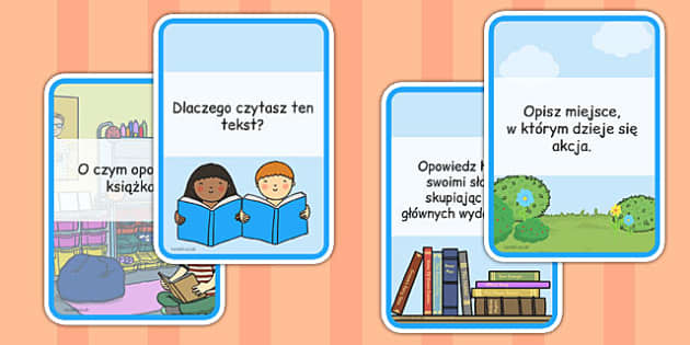 Reading Comprehension Cards Polish - challenge, english, books, independent, guided, understanding, writing, infer, ks1, ks2, support, prompts